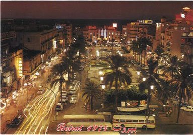 Beirut, Lebanon: Martyr's Square at Night