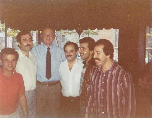 Mayor Ed Koch with Tripoli Restaurant owners and friends taken sometime in the 1970's